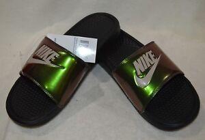 1e22f6ff5131 Nike Benassi JDI Print Black Cobblestone Men s Slides Sandals - 8 9 ...