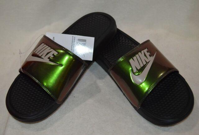 cd6e19d32d5c3e Nike Benassi JDI Print White Black Men s Slide Sandals-Sz 8 9 10 11 ...