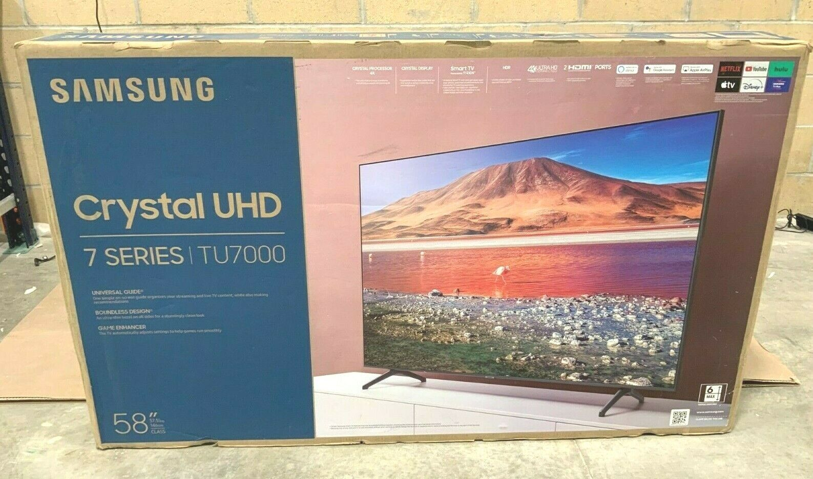 Samsung TU7000 58 LED LCD Smart TV (4K) UN58TU7000FXZA 2020 Model NOB ✅❤️️. Available Now for 379.99