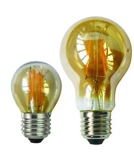 e27 led 4w 6w warmwei gl hbirne filament retro edison vintage leuchtmittel bulb ebay. Black Bedroom Furniture Sets. Home Design Ideas