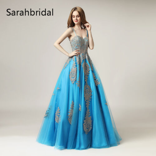 Crystal Beading Quinceanera Applique Dresses Sweetheart Prom Wedding Ball Gown 4