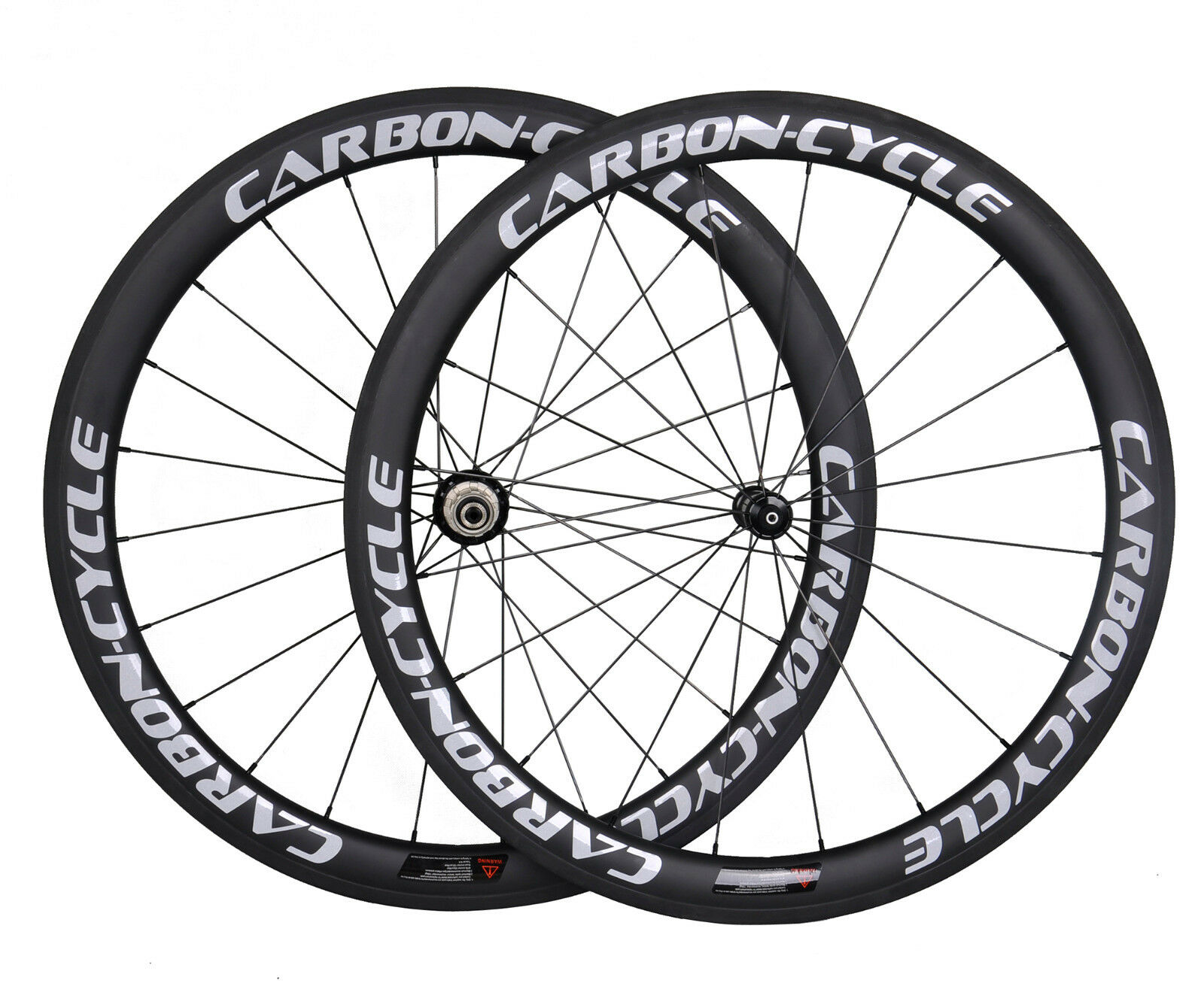 Sapim 50mm Carbon Wheel Clincher Front Rear Road Bike 700C UD Matt Rim White R36