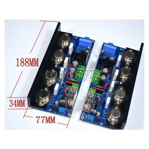 2pcs HIFI Amplifier Boards 180W*2 Adjustable Class A Audio Amplifier UPC-M4 TOP