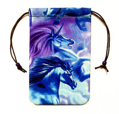 "Unicorn Tarot Bag - Gemini - 5""x7"" Gift Pouch Runes Pendulum Crystals Dice"