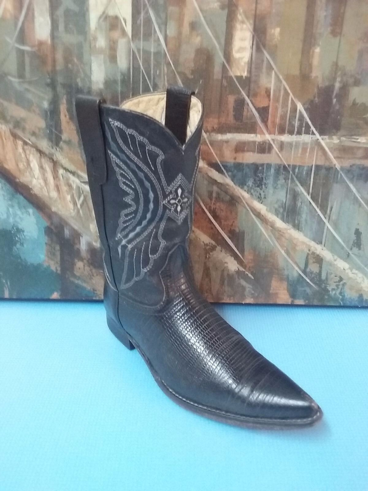 EL DORADO EXOTIC COWBOY BOOTS  MEN'S 6, WOMENS 7