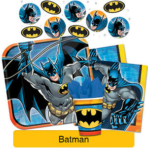 Image is loading BATMAN-Birthday-PARTY-RANGE-Tableware -Balloons-&-Decorations-  sc 1 st  eBay & BATMAN - Birthday PARTY RANGE (Tableware Balloons u0026 Decorations) DC ...