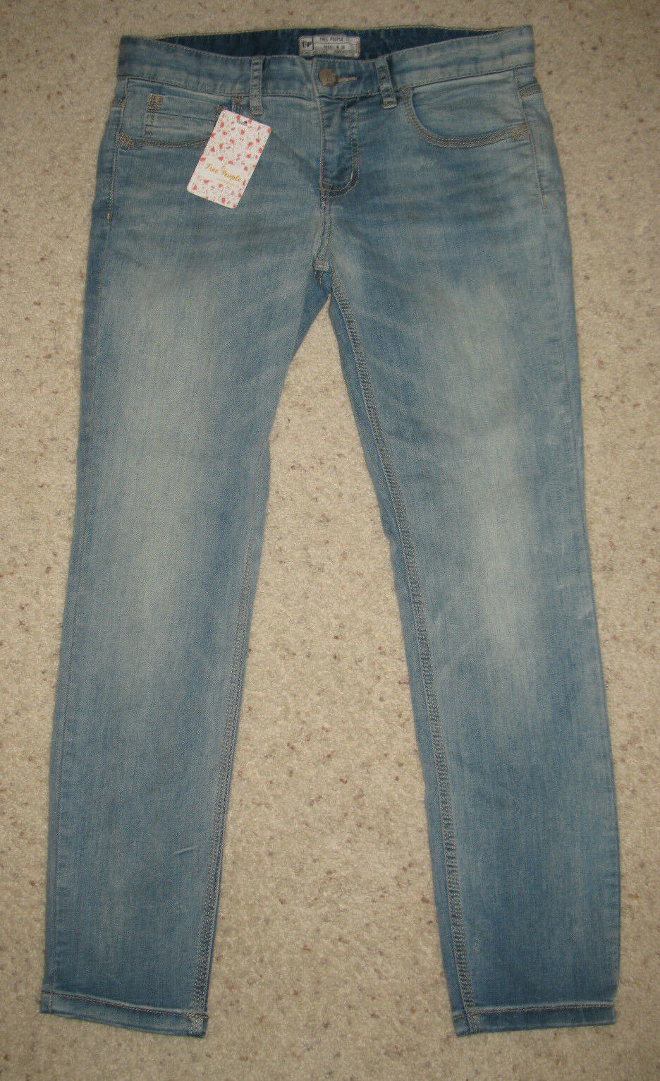 NWT Free People Cropped Capri Jeans Light Carrie Wash Size 28 Waist