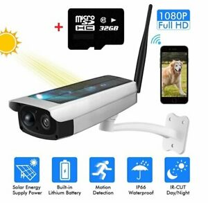 Outdoor-Solar-Powered-Wireless-WIFI-Security-Camera-1080P-HD-Night-Waterproof