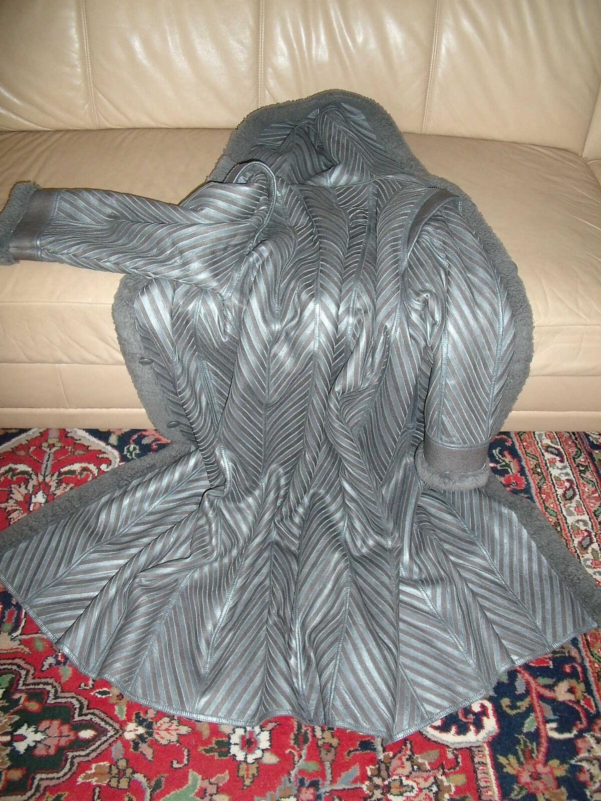 - Bonita de alta calidad señora auténtico-bäbylammfellmantel + capucha   inflexión abrigo    top   minoristas en línea