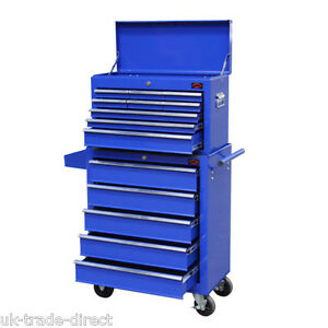 BLUE-X-LARGE-TOOL-CHEST-TOP-BOX-AND-ROLLCAB-BOX-US-BALL-BEARING-SIDES