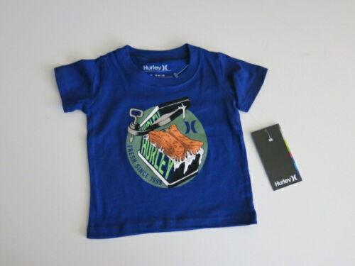 Hurley Niño Chicos 18M Mangas Cortas Logotipo Azul Camiseta H el spam puede Nuevo con etiquetas