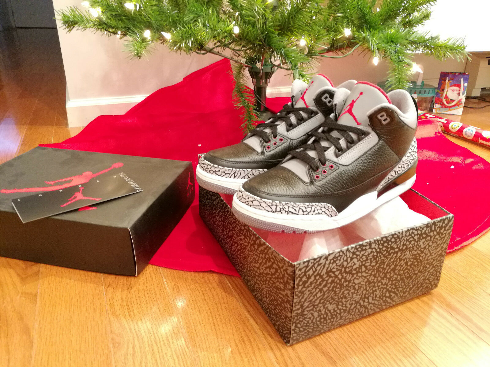 Brand New DS 2018 Nike Air Jordan III 3 Retro black varsity red-cement grey 9.5 Cheap women's shoes women's shoes