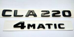 Mercedes-CLA220-4Matic-schwarz-glanzend-Schriftzug-Embleme-flache