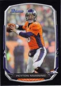 2013-Bowman-Black-100-Peyton-Manning-Broncos-NM-MT
