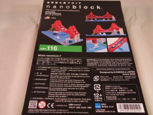 Kawada Nanoblock GOLDEN GATE BRIDGE USA japan building toy block NBH/_116