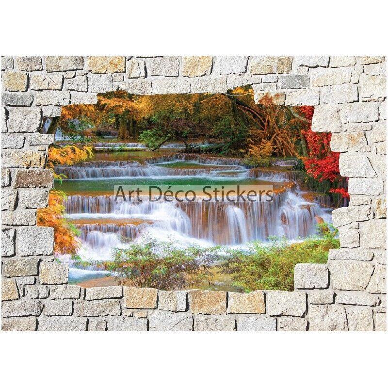 Aufkleber Wand -wand Stein Fluss 8505