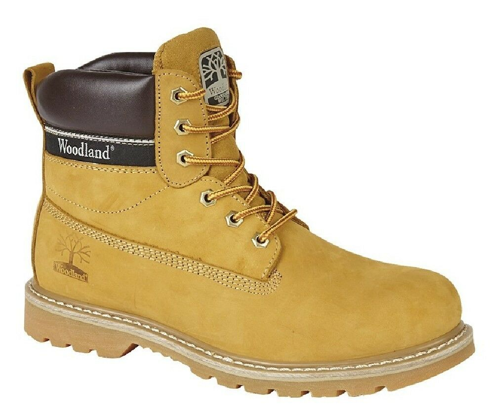 Woodland M905 Moda Hombre botas de Piel Utilitario botas Nubuck Miel