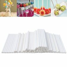 White 100pcs Pop Sticks Sucker Chocolate Candy Cake Lolly Lollipop Making Mould