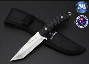 Browning-Fixed-Blade-Hunting-Knife-Camping-Tactical-Outdoor-AU-Stock-Sheath