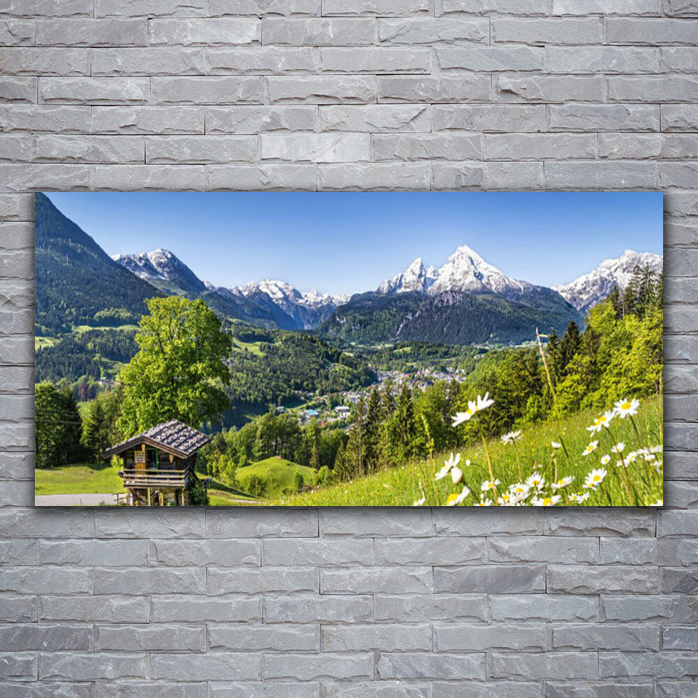 Toile PICTURES Wall Picture toile Art Print 120x60 mountains Fields Natural