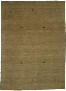 Modern Design Solid Beige Handmade 6X8 Indo-Gabbeh Oriental Rug Kids Room Carpet