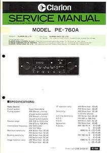 Tv, Video & Audio Liefern Clarion Original Service Manual F Pe 760 A