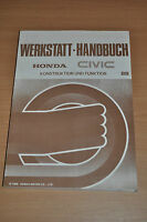 Werkstatthandbuch Konstruktion und Funktion HONDA Civic (1988)