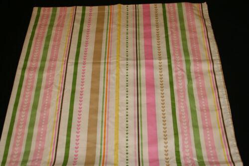 Circo Love 'n Nature Fabric Shower Curtain kids bath pink striped 72x72 nwop