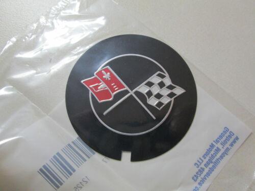 1969-1982 CHEVROLET CAMARO CORVETTE CROSS FLAG VALVE COVER EMBLEM 3946860