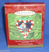 Hallmark Photo Holder Ornament Our First Christmas Together 2000 Picture Frame