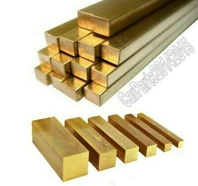 Model making 25.4mm 300mm Length Brass square solid bar CW614N//CZ121..