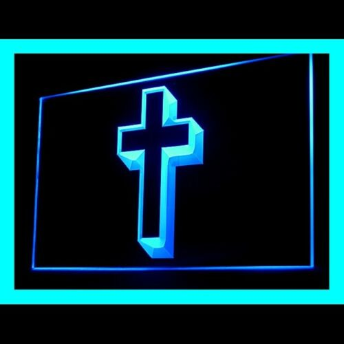 150023 Cross New Jesus X/'mas Christmas Church Bible Display LED Light Sign
