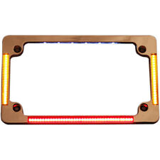 Custom Dynamics Chrome Flat All in One LED License Plate Frame
