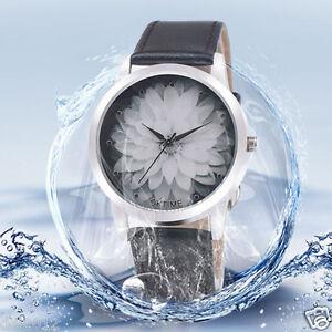 OKTIME-Women-039-s-Fashion-Flower-Analog-Leather-Band-Waterproof-Quartz-Wrist-Watch