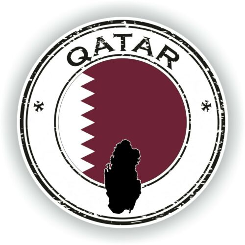 Sticker of Qatar Stamp for Bumper Travel Car Tablet Suitcase Hollidays