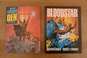 2 x Richard Corben Comics Bloodstar und DEN, Hard- u. Softcover, ca. 1981