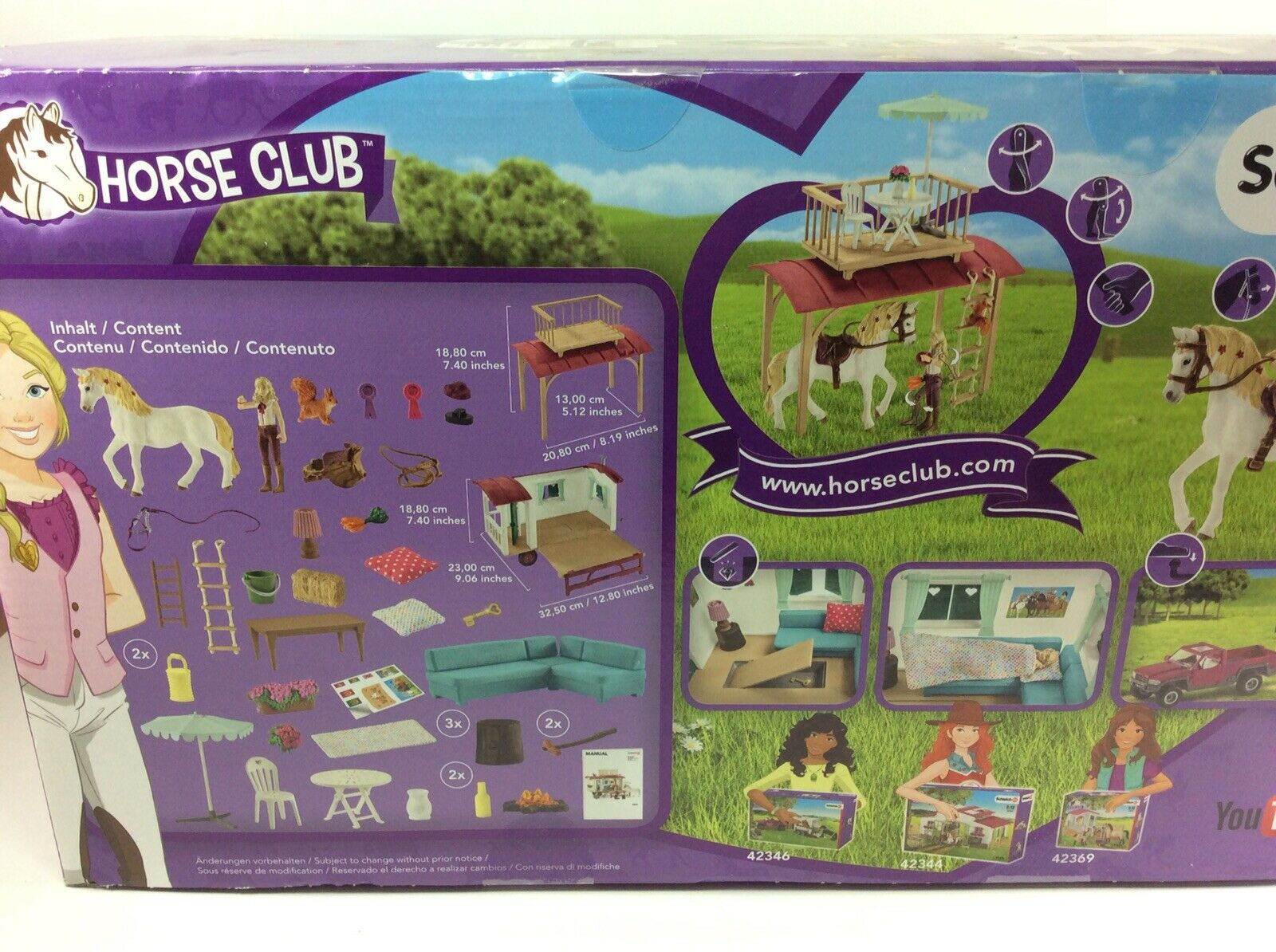 Scleich Horse Club 42415 Meeting Place or Camping Camping Camping Trailer w  Balcony NEW In Box  20a8b4