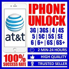 AT&T FACTORY UNLOCK CODE SERVICE FOR IPHONE 3G 3GS 4 4S 5 5C 5S SE 6 6+ 6S 6S+
