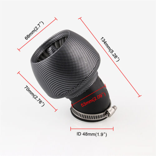 Universal ATV Scooter Air Intake Filter Cone Pod w// 28mm//35mm//45mm//48mm Adapter