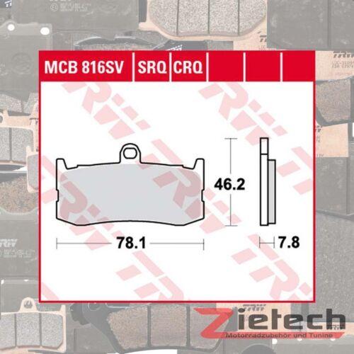 TRW Bremsklotz Bremsbelag Carbon CRQ MCB816CRQ Motorrad Bremsbeläge
