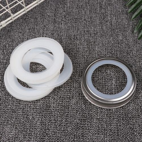 10 Pack Silicone Sealing Rings Gaskets for Leak Proof Mason Jar Lids Storage Cap