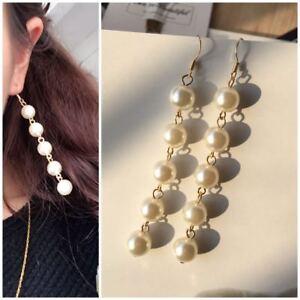 Fashion-Women-Bling-Ball-Earrings-Long-Chain-Drop-Dangle-Earrings-Jewelry