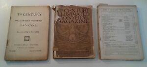 ANTIQUE-MAGAZINE-Lot-The-Century-Illustrated-Monthly-Dec-1891-Aug-1900-Nov-1884