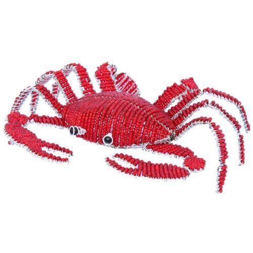 Beadworx-petit crabe rouge dans la mer-fabriqué à la main ~ Bead-travail de perles Cadeau