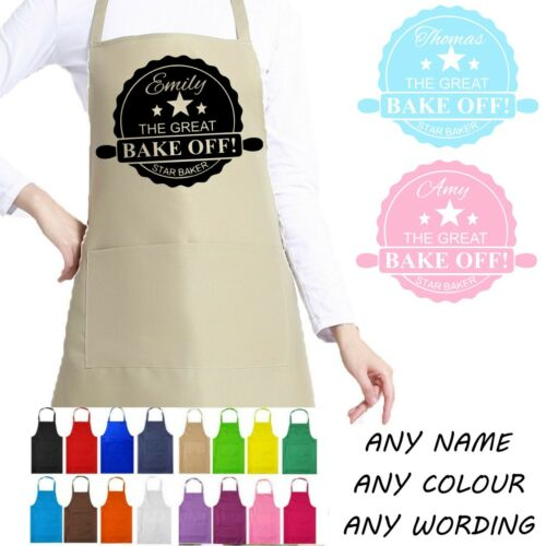 The Great British Bake Off style tablier GBBO Personnalisé Tout Nom Star Baker