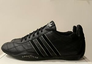 Details about Adidas Tuscany Goodyear Racing Shoes Black Silver Men 9 Rare