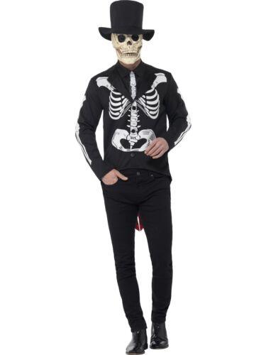 Adult Senor Skeleton Costume Day of the Dead Skeleton Fancy Dress Halloween Outf