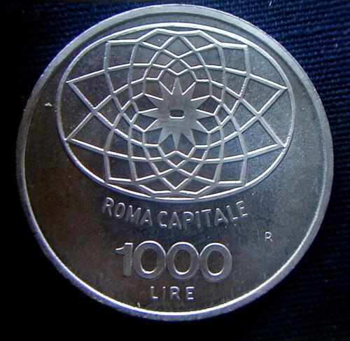 1970 ITALY  silver coin 1000 Lire UNC GEM Roma capitale Condordia HIGH QUALITY