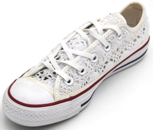 9d439747ffb1 CONVERSE ALL STAR WOMAN SNEAKER SHOES CASUAL FREE TIME MACRAME 549314C  DEFECT