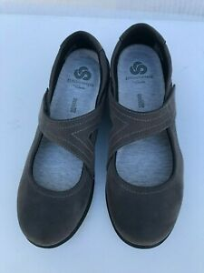 Clarks-Cloudsteppers-Sillian-Bella-Gray-Mary-Janes-Flats-Womens-Size-7-M-EU-37-5